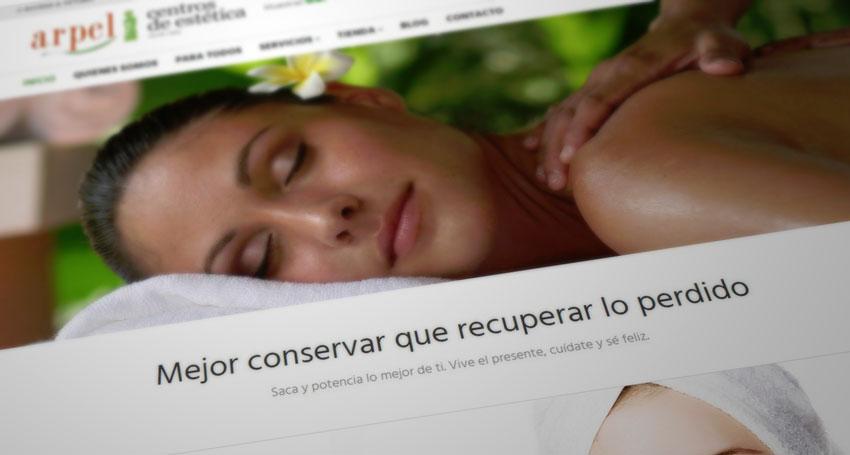 Centro de estetica y belleza Zaragoza ArpelEstetica - Web
